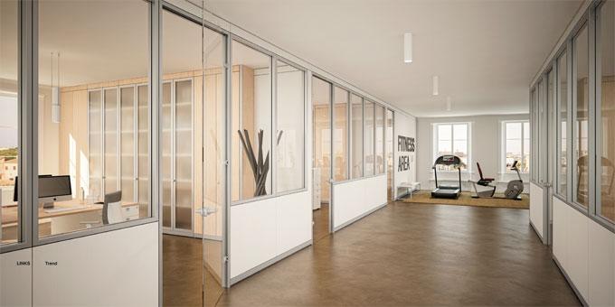 Pareti attrezzate ufficio capitolato tecnico linekit - Pannelli decorativi ikea ...