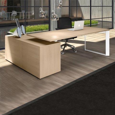 Mobili ufficio direzionali line kit - Scrivania cristallo ufficio ...