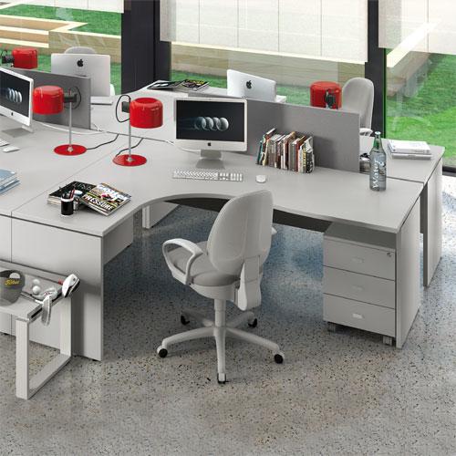 Scrivanie per ufficio operative acquista online con linekit for Scrivanie mobili