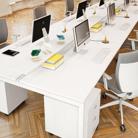 Scrivanie per ufficio operative acquista online con linekit for Scrivania low cost