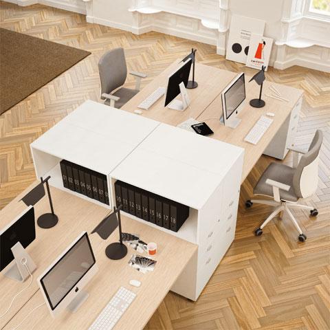 Scrivanie per ufficio operative acquista online con linekit for Produzione mobili ufficio