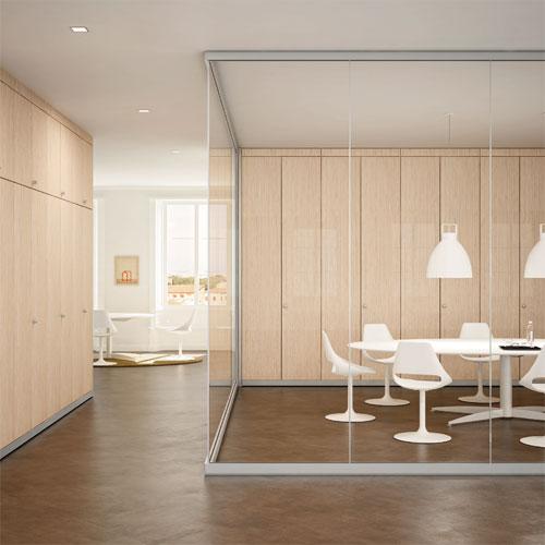 Parete attrezzata in muratura fabulous cheap mobile sala con scrivania mobile soggiorno moderno - Pareti per ufficio prezzi ...