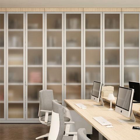 Pareti divisorie per ufficio le partizioni interne linekit for Parete attrezzata in muratura