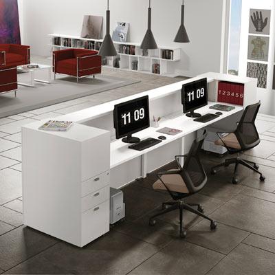 Reception per ufficio linekit linekit for Mobili da reception