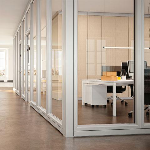 Pareti divisorie per ufficio le partizioni interne linekit for Mobili ufficio moderni