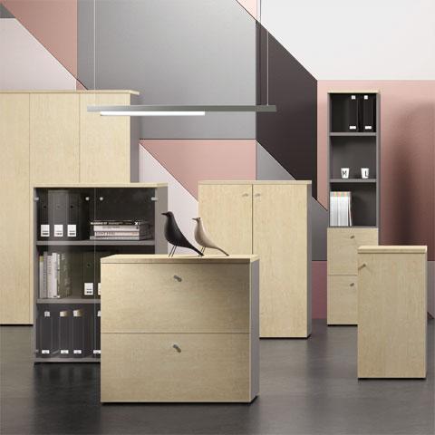 Archiviazione e armadi per ufficio for Dimensioni mobili ufficio