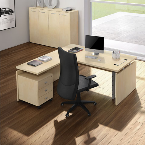 Scrivanie per ufficio linekit linekit for Scrivania vetro ufficio