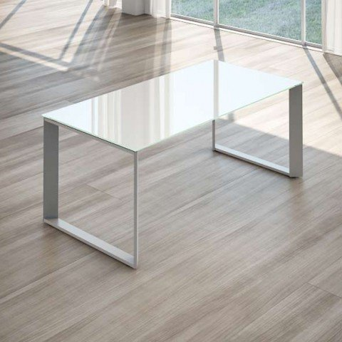 Allungo per scrivania per ufficio cristallo linekit - Scrivania cristallo ufficio ...