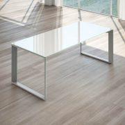 scrivania per ufficio in cristallo