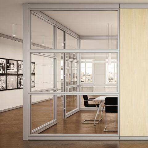 Pareti divisorie per ufficio le partizioni interne linekit for Divisori in vetro per ufficio prezzi