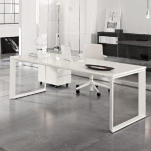 scrivania per ufficio Twist con cassettiera
