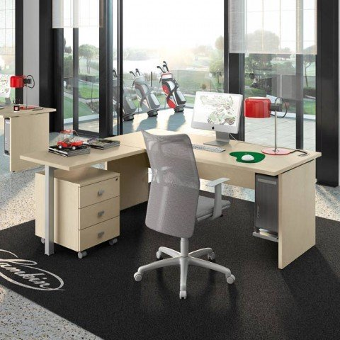 Scrivanie operative linekit for Mobili ufficio wenge