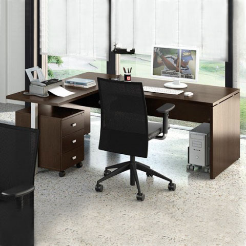 Scrivania operativa con cassettiera linekitlinekit for Arredamento completo ufficio