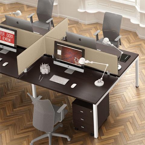 Scrivanie per ufficio linekit linekit for Design stanza ufficio