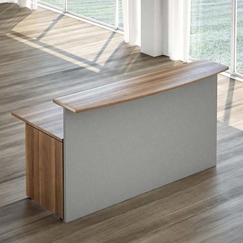 Reception lineare con scrivania 180 cm linekit for Scrivania da reception