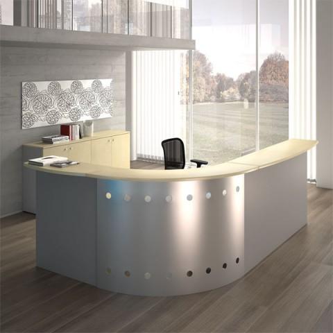 Reception modulo angolare 271 x 191 cm linekit for Reception per ufficio