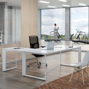 scrivania ufficio bianca