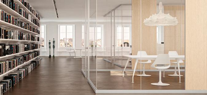 Pareti in vetro per ufficio linekit for Divisori in vetro per ufficio prezzi