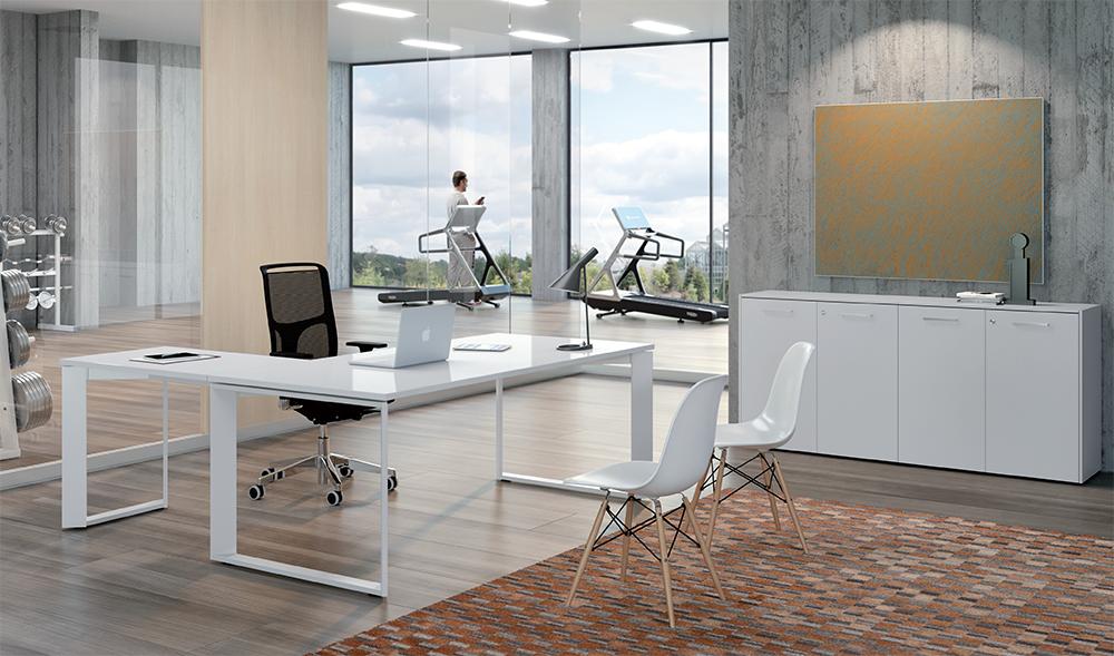 Scrivania ufficio bianca ud75 regardsdefemmes for Mobili x ufficio