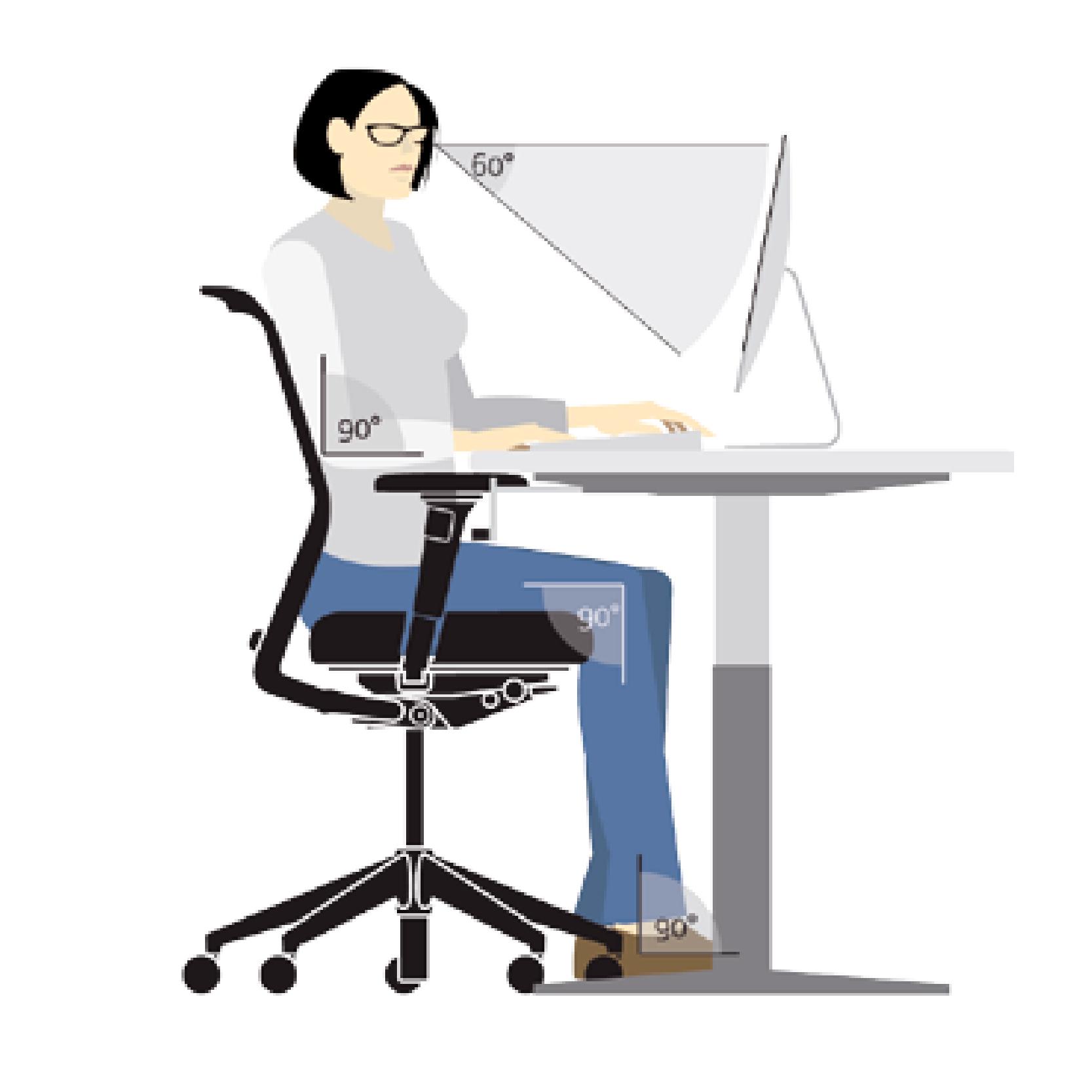 Postazione Ergonomica Per Computer scrivania ed ergonomia: consigli postura ufficio - linekit